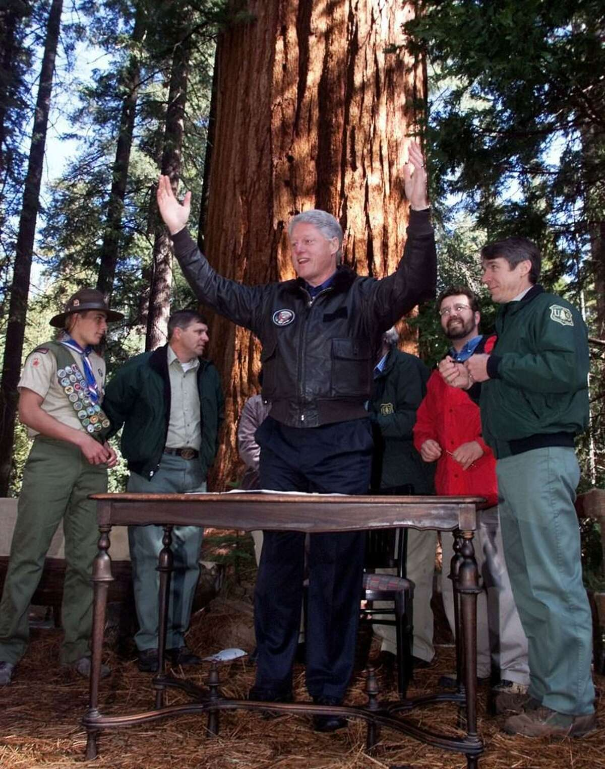 President Clinton established the Giant Sequoia National Monument in 2000, adding to the protected groves of trees at nearby Sequoia, Kings Canyon and Yosemite national parks. The Trump administration is considering downsizing the monument.