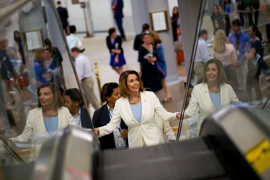 House Minority Leader Nancy Pelosi (D-Calif.) on Capitol Hill in Washington, June 27, 2017. (Eric Thayer/The New York Times) Photo: ERIC THAYER, NYT