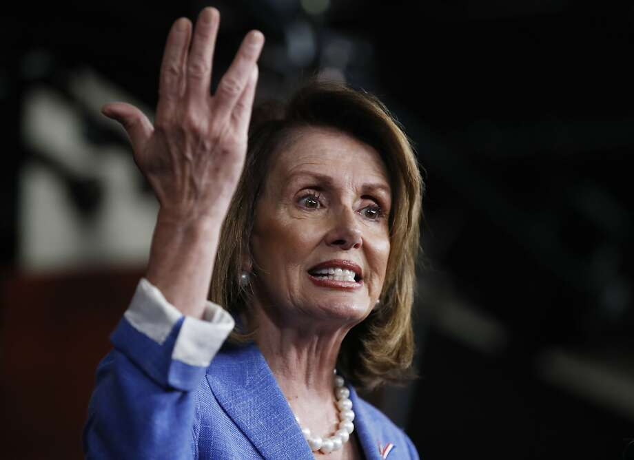 House Minority Leader Nancy Pelosi of Calif. speaks to reporters during a news conference on Capitol Hill in Washington, Thursday, June 22, 2017. (AP Photo/Manuel Balce Ceneta) Photo: Manuel Balce Ceneta, Associated Press