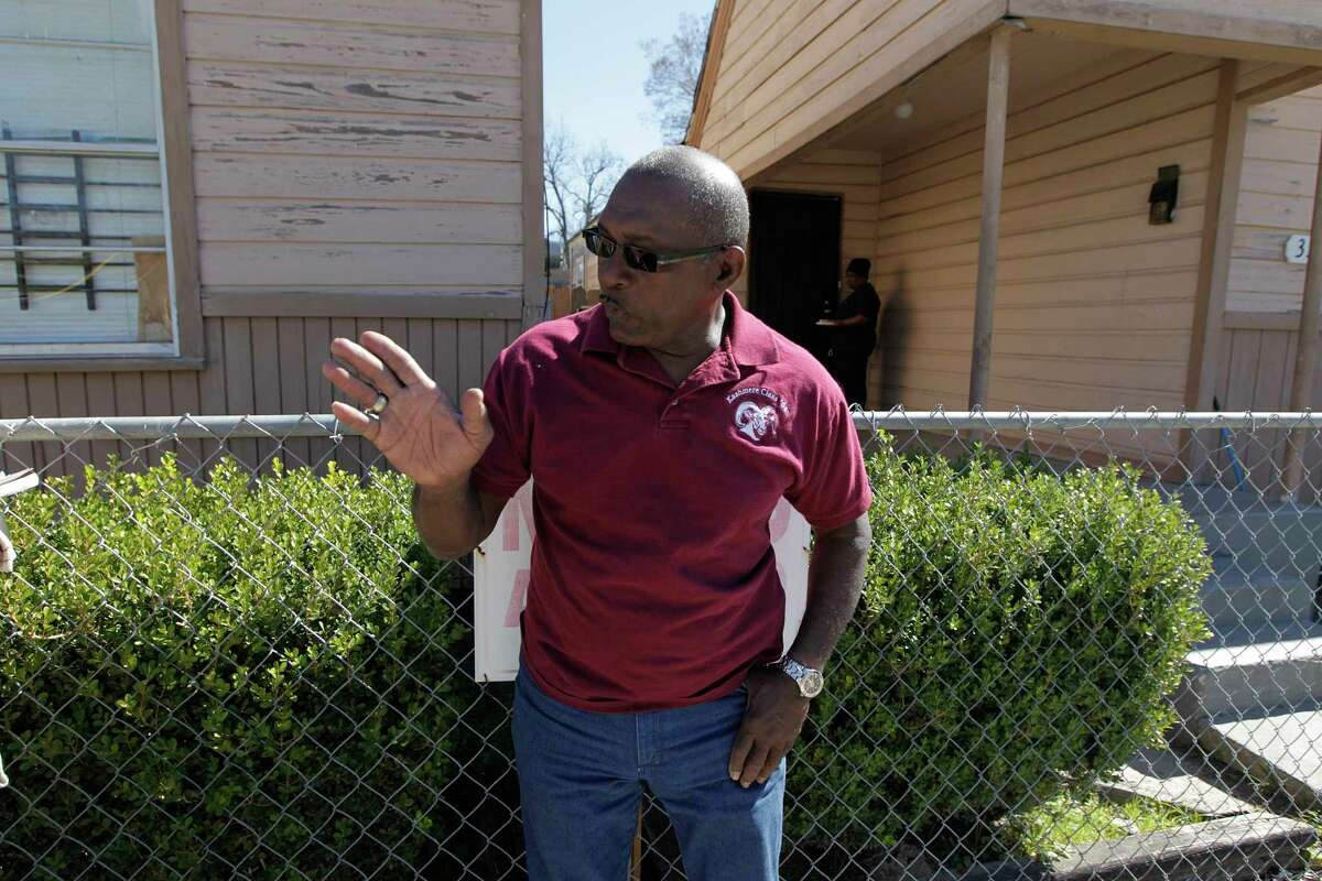 Audry L. Releford, whose mentally ill son Kenneth was shot and killed by a police officer in 2012 points recalls the night Thursday, Feb. 11, 2016, in Houston. The same officer was involved soon after in another shooting and the incident has sparked a wrongful death case against HPD that challenges the quality of HPD's reviews of all officer involved shootings from 2009-2012 under outgoing Chief McClelland.