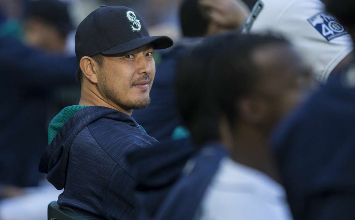 SEATTLE, WA - JUNE 22: Hisashi Iwakuma #18 of the Seattle Mariners sits on the bench in the dugout during a game against the Detroit Tigers at Safeco Field on June 22, 2017 in Seattle, Washington. The Mariners won the 9-6. (Photo by Stephen Brashear/Getty Images)