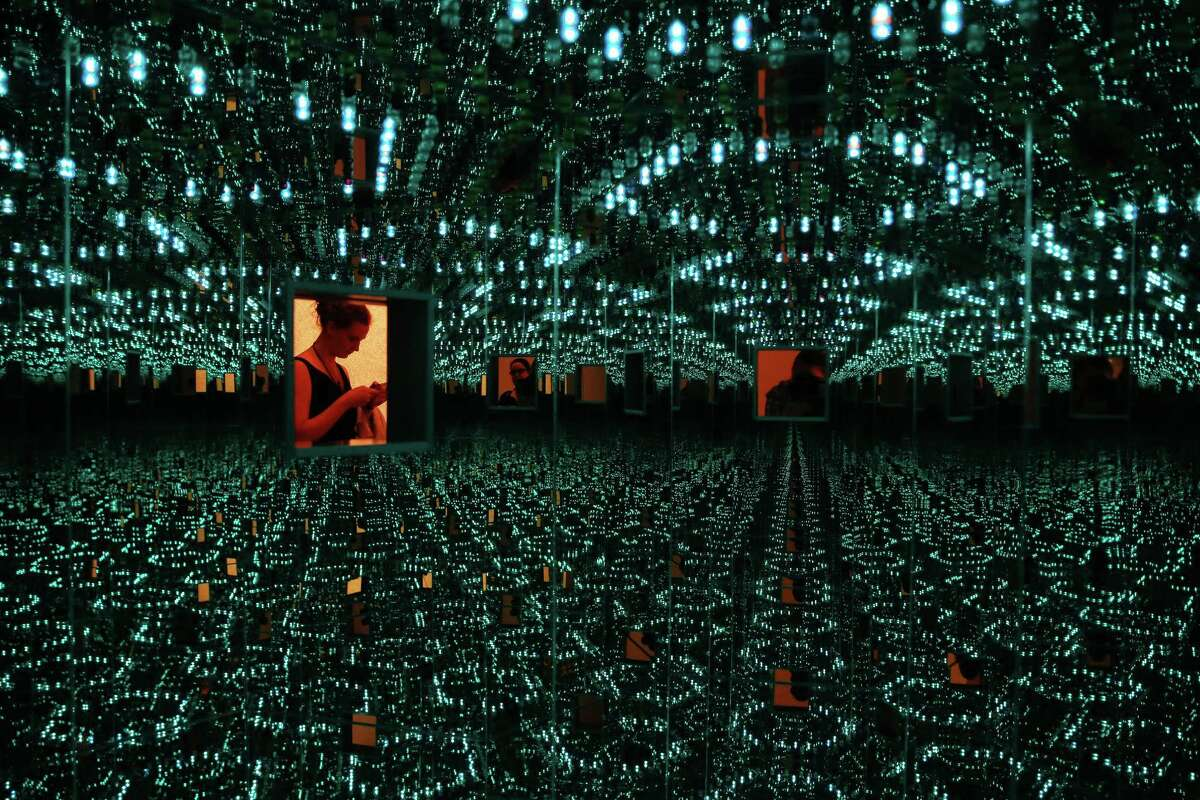 """""""Infinity Mirrored Room -- Love Forever"""", an installation at the Yayoi Kusama: Infinity Mirrors exhibit, which is on display June 30 through September 10 at the Seattle Art Museum. Photographed, Wednesday, June 28, 2017. Infinity Mirrored Room -- Love Forever"""