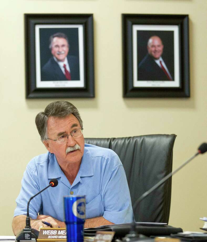 Board member Webb Melder speaks at a special meeting of the Lone Star Groundwater Conservation District, Wednesday, June 28, 2017, in Conroe. Photo: Jason Fochtman, Staff Photographer / © 2017 Houston Chronicle