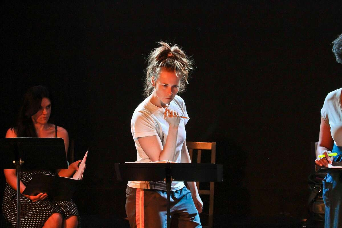 """Elena Wright in Lauren Gunderson's """"The Revolutionists,"""" at the July 2015 Bay Area Playwrights Festival."""