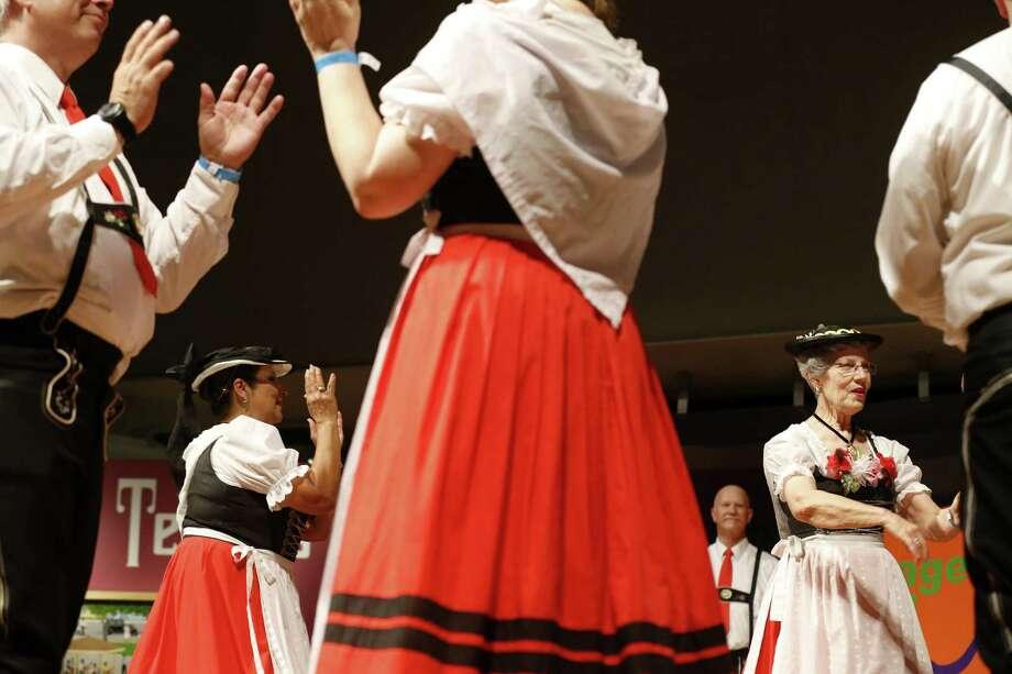 Members of Der Deutsche Volkstanzverein von San Antonio perform June 11 during the 46th annual Texas Folklife Festival at the University of Texas at San Antonio's Institute of Texan Cultures. Photo: Edward A. Ornelas /San Antonio Express-News / © 2017 San Antonio Express-News