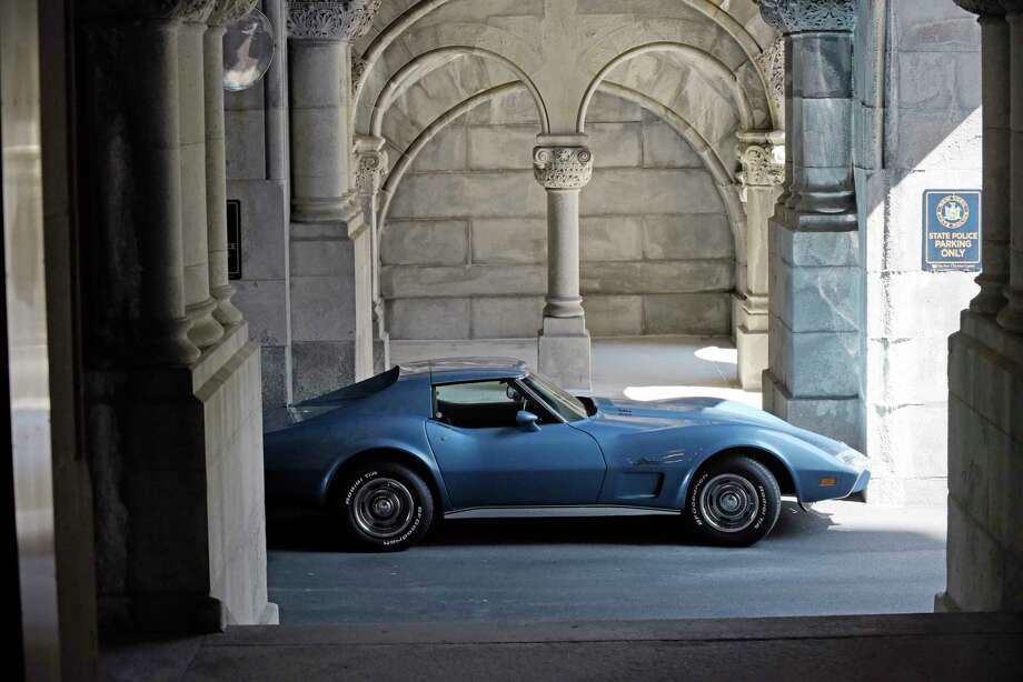 Governor Andrew Cuomo's 1975 Corvette, seen parked outside the Capitol on Wednesday, June 28, 2017, in Albany, N.Y.   (Paul Buckowski / Times Union) Photo: PAUL BUCKOWSKI / 20040921A