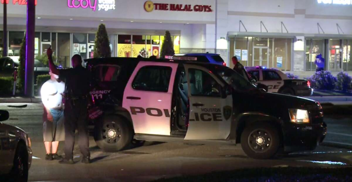 Officers are investigating a crash during which a possibly intoxicated driver hit a police cruiser early Thursday in west Houston. (Metro Video)