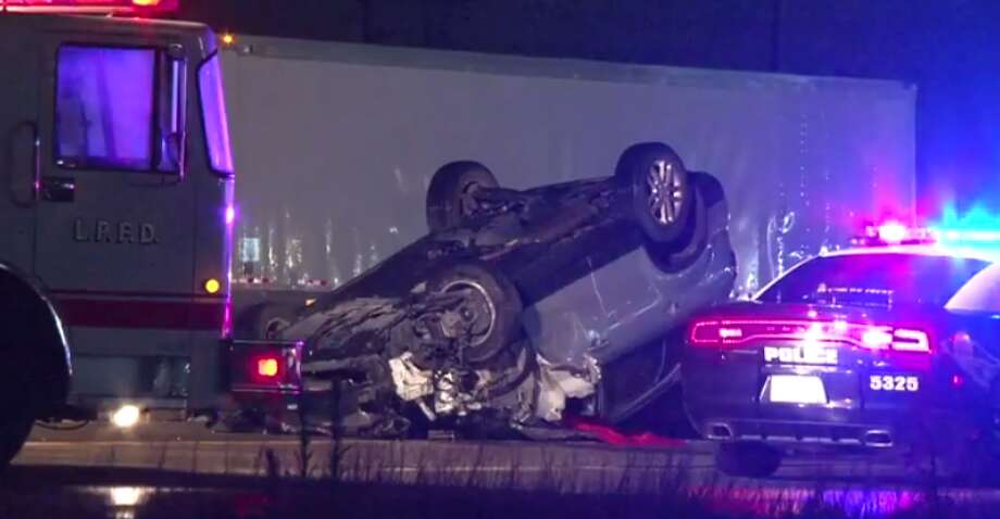 Police are investigating a two-car crash that left one man dead and two more injured early Thursday in La Porte. (Metro Video) Photo: Metro Video