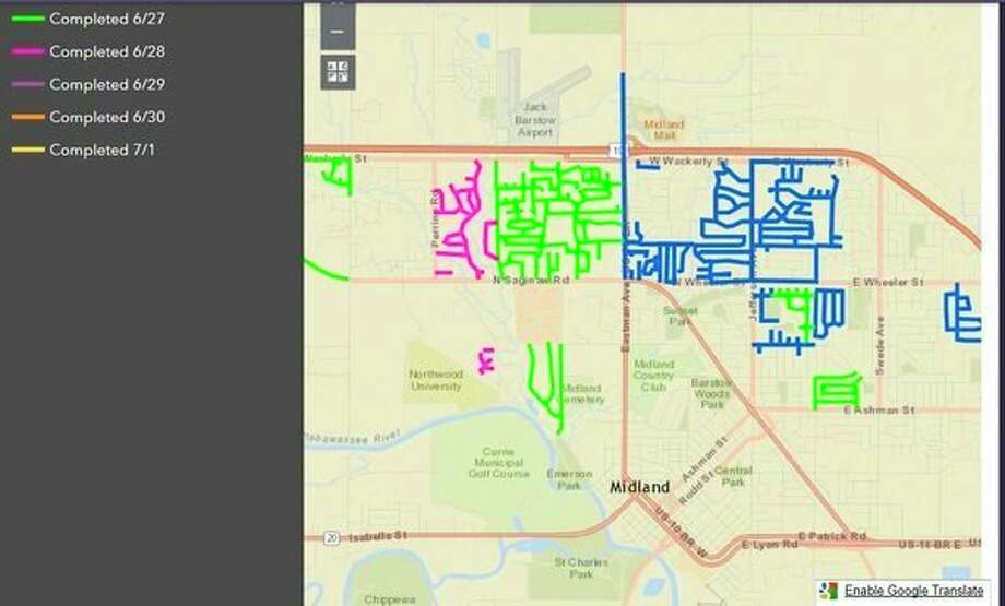 You can follow a map of flood collection updates at www.cityofmidlandmi.gov/floodcollection, which the city says will be updated each morning.