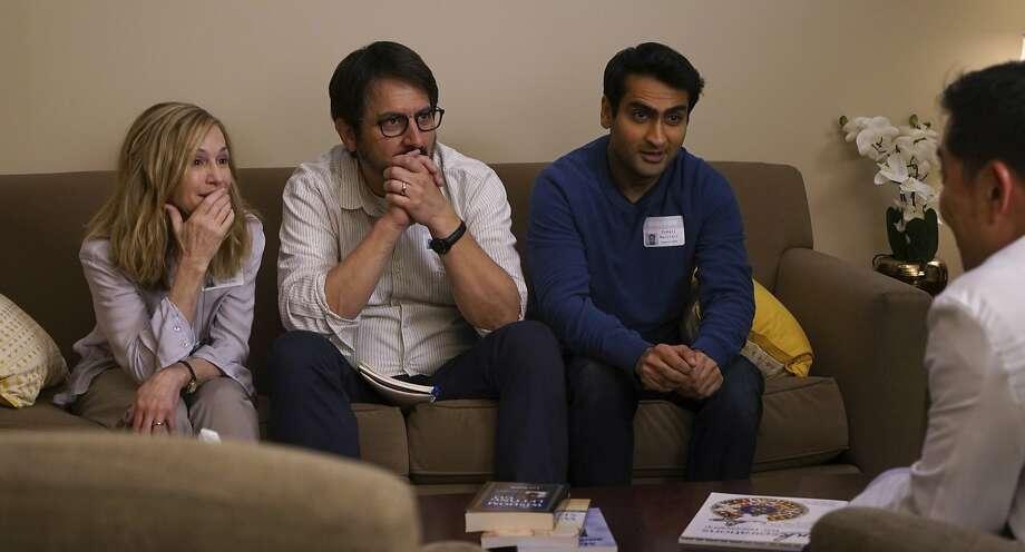 "Holly Hunter, Ray Romano (center) and Kumail Nanjiani in ""The Big Sick."" Photo: Nicole Rivelli, Associated Press"