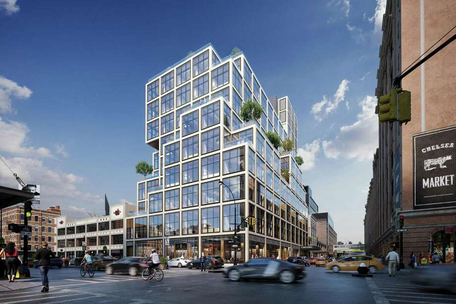Aetna's planned new headquarters at 61 Ninth Ave. in New York City. (Rendering courtesy Aetna).