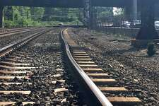 A bend in Metro North's track can be seen prior to the May 18 derailment near Rye N.Y. that injured 14 passengers and two crew members.