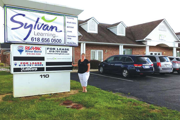 Co-owner Misty Menossi outside Sylvan Learning Center's new location.