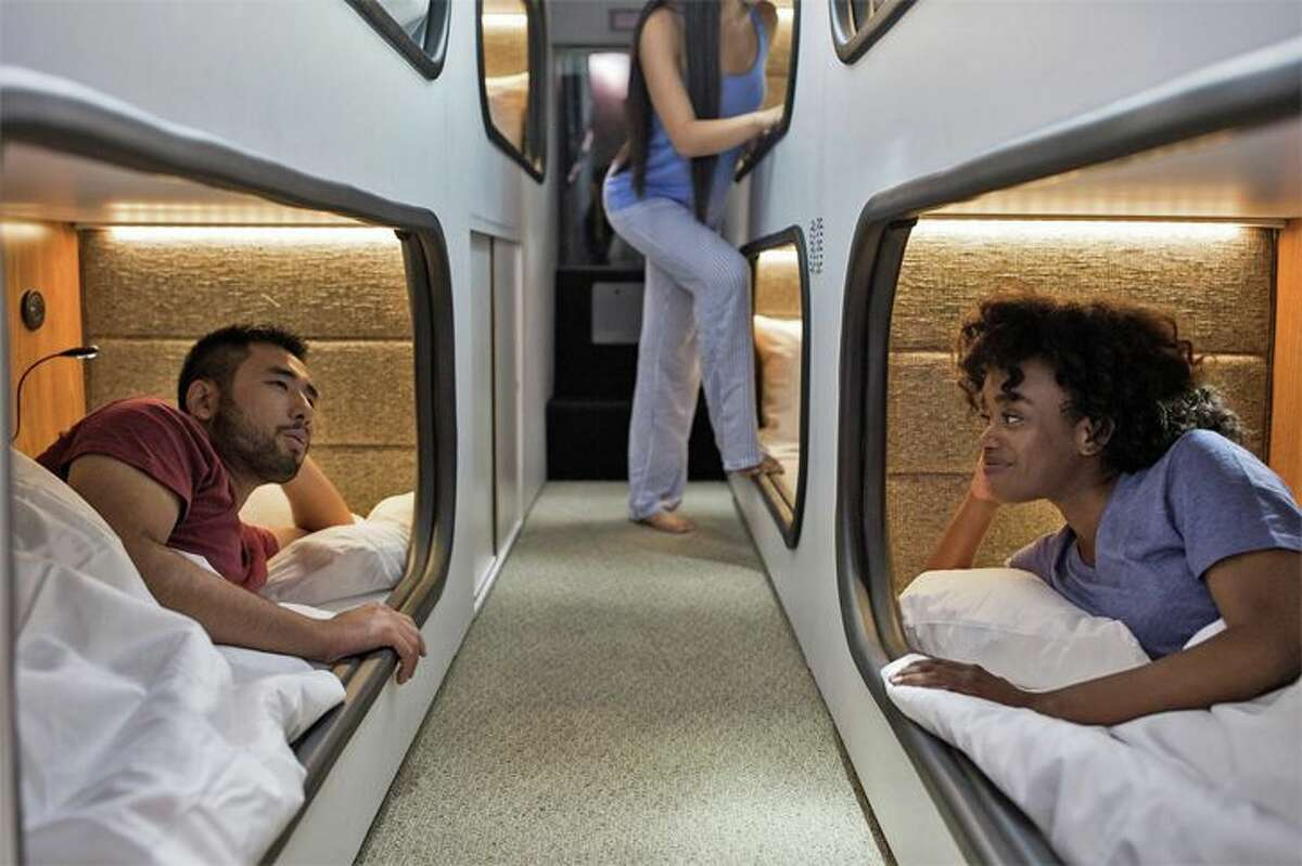 Cabin offers sleep pods for overnight trips.