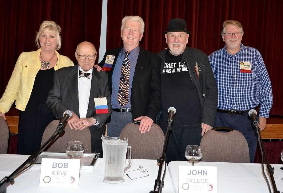 KLIV Bay Area Radio Hall of Fame panel: Kim Vestal (left), Bob Kieve, John McLeod, Bob Ray and George Sampson. Photo: Kenny Wardell