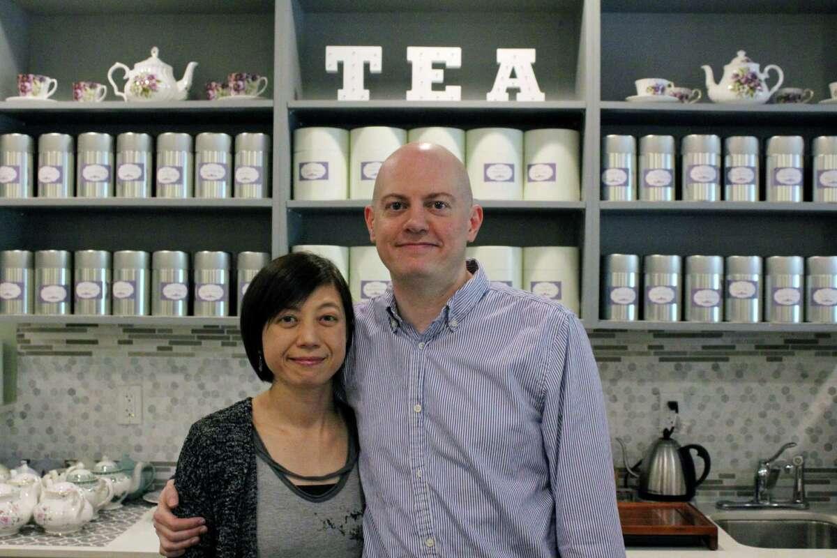 Norwalk couple, Shu-Chuan Chen and Alex Higle, close CultureTea on Thursday, June 29, 2017.