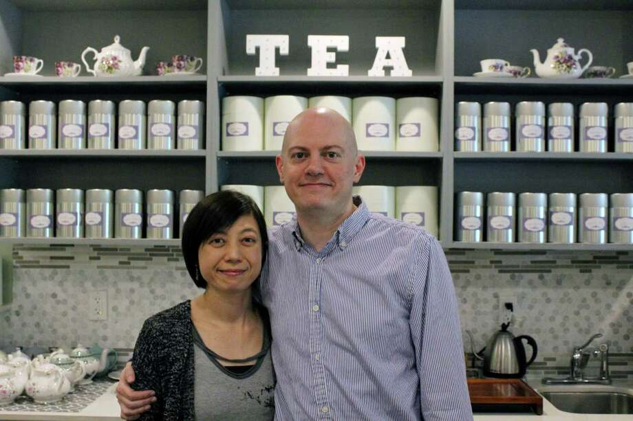 Norwalk couple, Shu-Chuan Chen and Alex Higle, close CultureTea on Thursday, June 29, 2017. Photo: Stephanie Kim / Hearst Connecticut Media