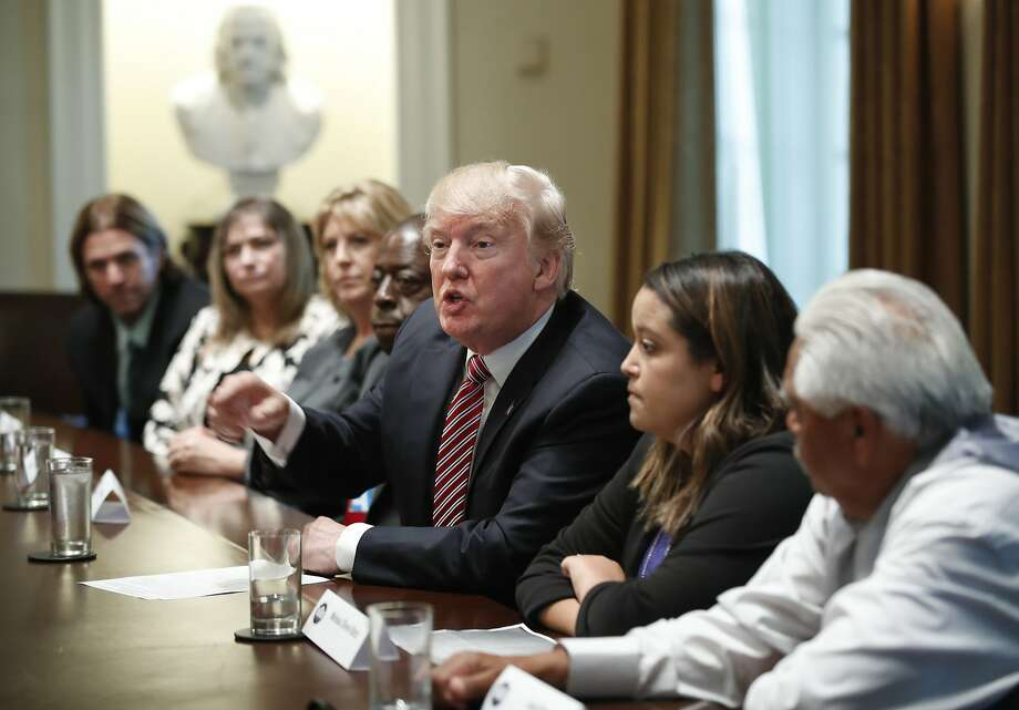 "Before the House voted on two immigration bills, President Trump met with what he called ""immigration crime victims."" Trump urged passage of the legislation ""to save American lives."" Photo: Manuel Balce Ceneta, Associated Press"