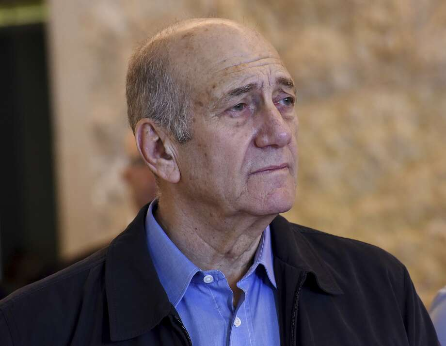 Former Israeli Prime Minister Ehud Olmert was convicted of taking bribes as mayor of Jerusalem. Photo: Debbie Hill, Associated Press