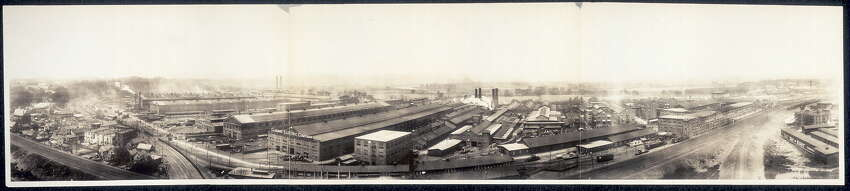 1907 panoramic view of General Electric Co. Schenectady Works, Schenectady, N.Y. (Library of Congress)