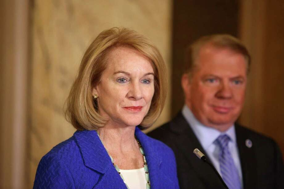 Former U.S. Attorney Jenny Durkan, seen receiving an endorsement from incumbent Mayor Ed Murray, is tops in the field with $321,630 raised in her campaign for Seattle Mayor. The average donation to Durkan is $236.57. She is also running through money faster than her competitors. Photo: SEATTLEPI.COM / SEATTLEPI.COM