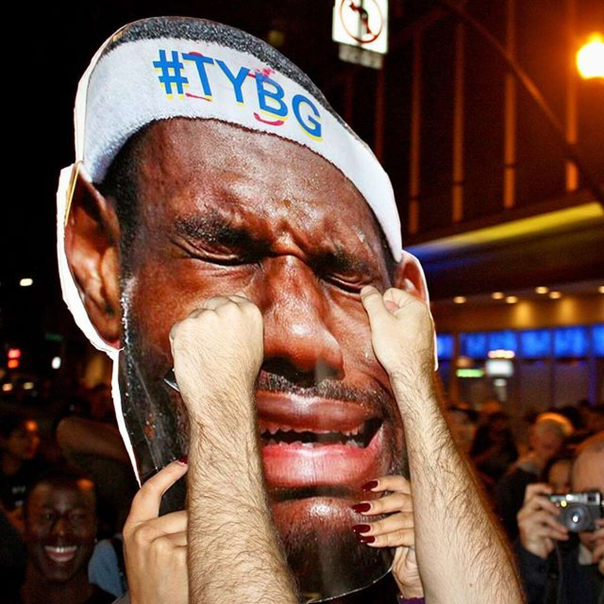 @kevinkelleherphotography found Warriors fans were more than happy to wipe away the tears of Lebron James while celebrating the team's NBA championship.