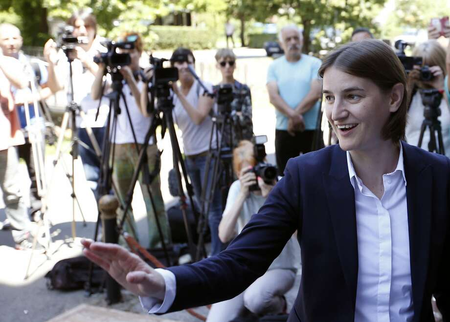 Western-educated Ana Brnabic was nominated as prime minister amid opposition from hard-line nationalists. Gays have regularly faced harassment and attacks in Serbia. Photo: Darko Vojinovic, Associated Press