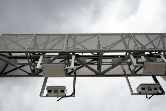 Toll tag cameras are seen along the Sam Houston Tollway entrance ramp from Texas 249 on Oct. 30, 2015. Growth in northwest Harris County and southwest Montgomery County has prompted officials to plan tollway projects along Texas 249 to Todd Mission.