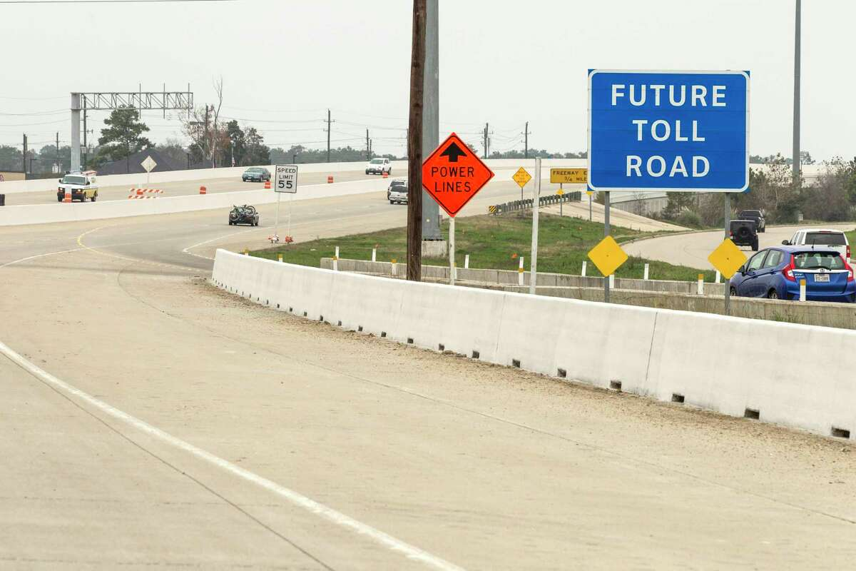 A Future Toll Road sign stands alongside Texas 249 as construction continues on the Tomball Tollway on Feb. 6, 2015. The tollway opened two months later, and officials are now expanding it to the Montgomery County line. Keep clicking to see the most 25 congested highways in Texas.