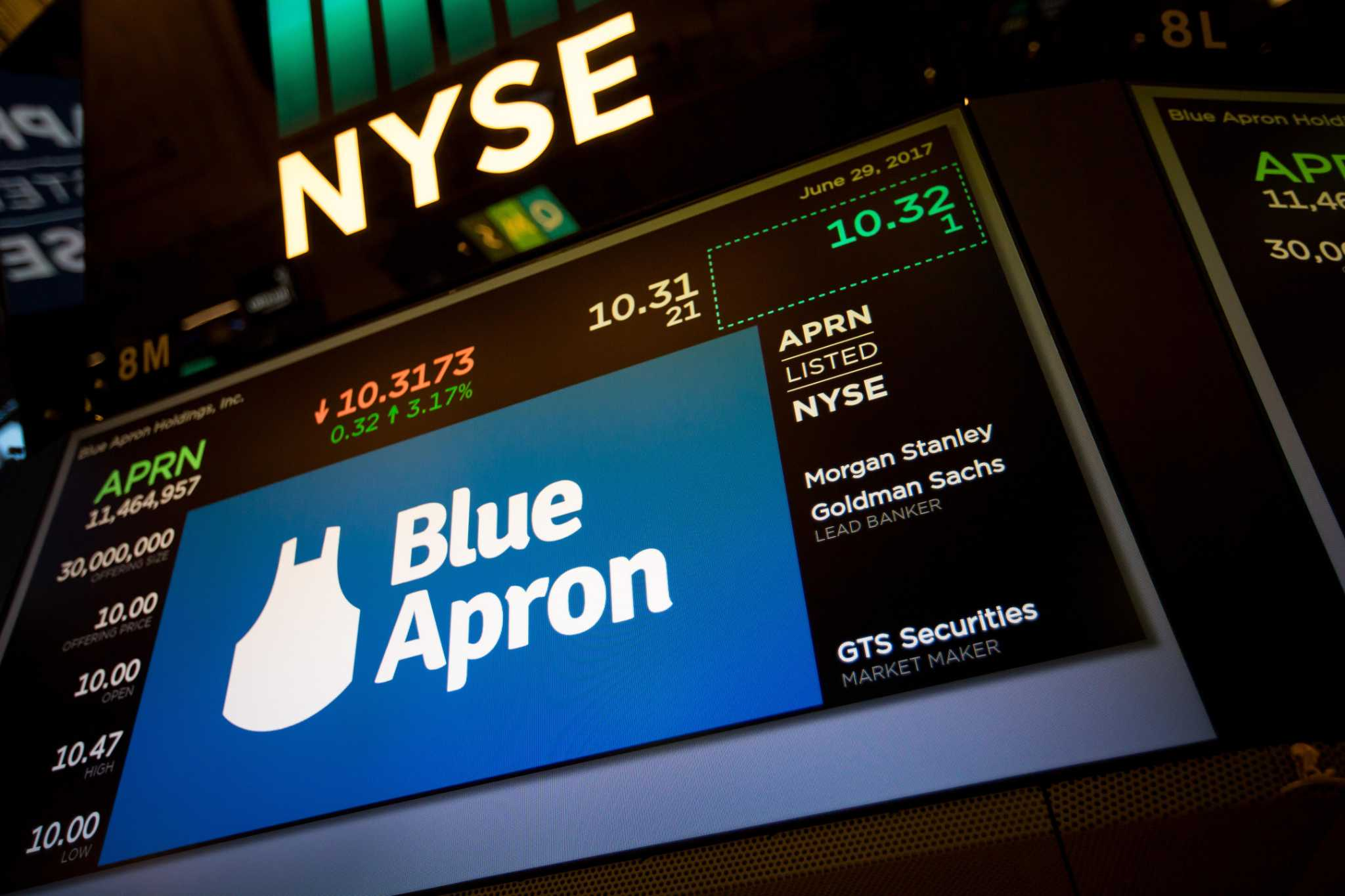 Blue aprons stock fizzles in debut after disappointing ipo san blue aprons stock fizzles in debut after disappointing ipo san antonio express news biocorpaavc Images
