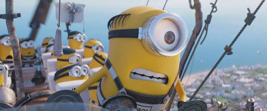 "This image released by Illumination and Universal Pictures shows the Minions in a scene from ""Despicable Me 3.""  (Illumination and Universal Pictures via AP) ORG XMIT: NYET924 / Copyright: © 2017 Universal Studios. ALL RIGHTS RESERVED."