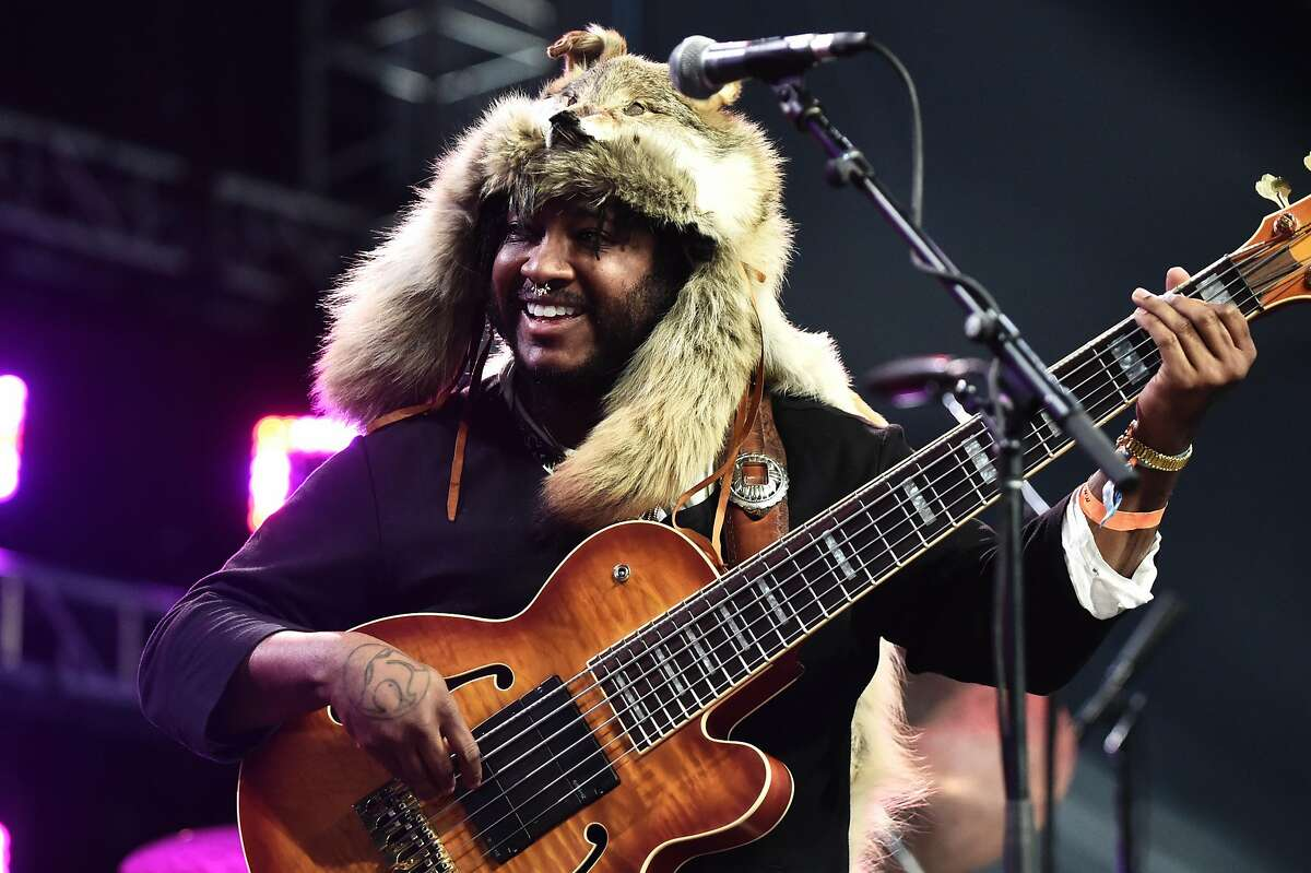 Musician Thundercat performs at the Mojave Tent during day 2 of the Coachella Valley Music And Arts Festival (Weekend 1) on April 15, 2017 in Indio, California.