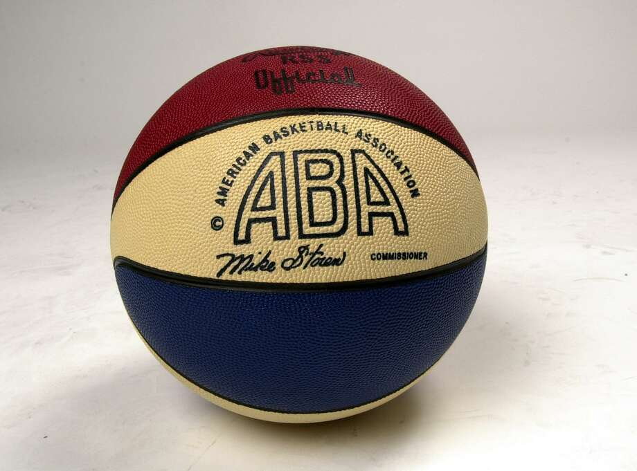 Official ABA basketball from the 1970s. Photo: Express-News File Photo / SAN ANTONIO EXPRESS-NEWS