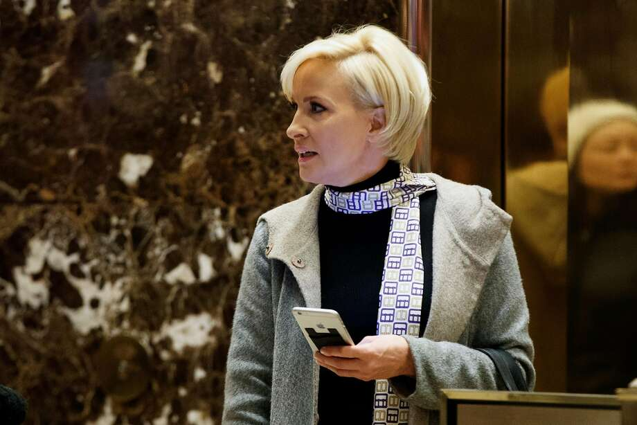 "In this Nov. 29, 2016 file photo Mika Brzezinski waits for an elevator in the lobby at Trump Tower, Tuesday, Nov. 29, 2016, in New York.  President Donald Trump has used a series of tweets to go after Mika Brzezinski and Joe Scarborough, who've criticized Trump on their MSNBC show ""Morning Joe."" (AP Photo/Evan Vucci) Photo: Evan Vucci, Associated Press"