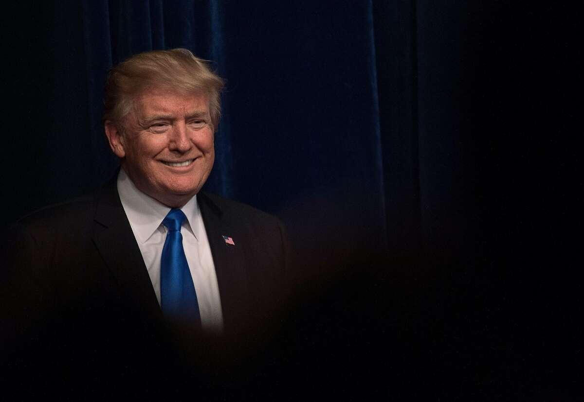 US President Donald Trump arrives to speak at the Energy Department in Washington, DC, on June 29, 2017. / AFP PHOTO / NICHOLAS KAMMNICHOLAS KAMM/AFP/Getty Images