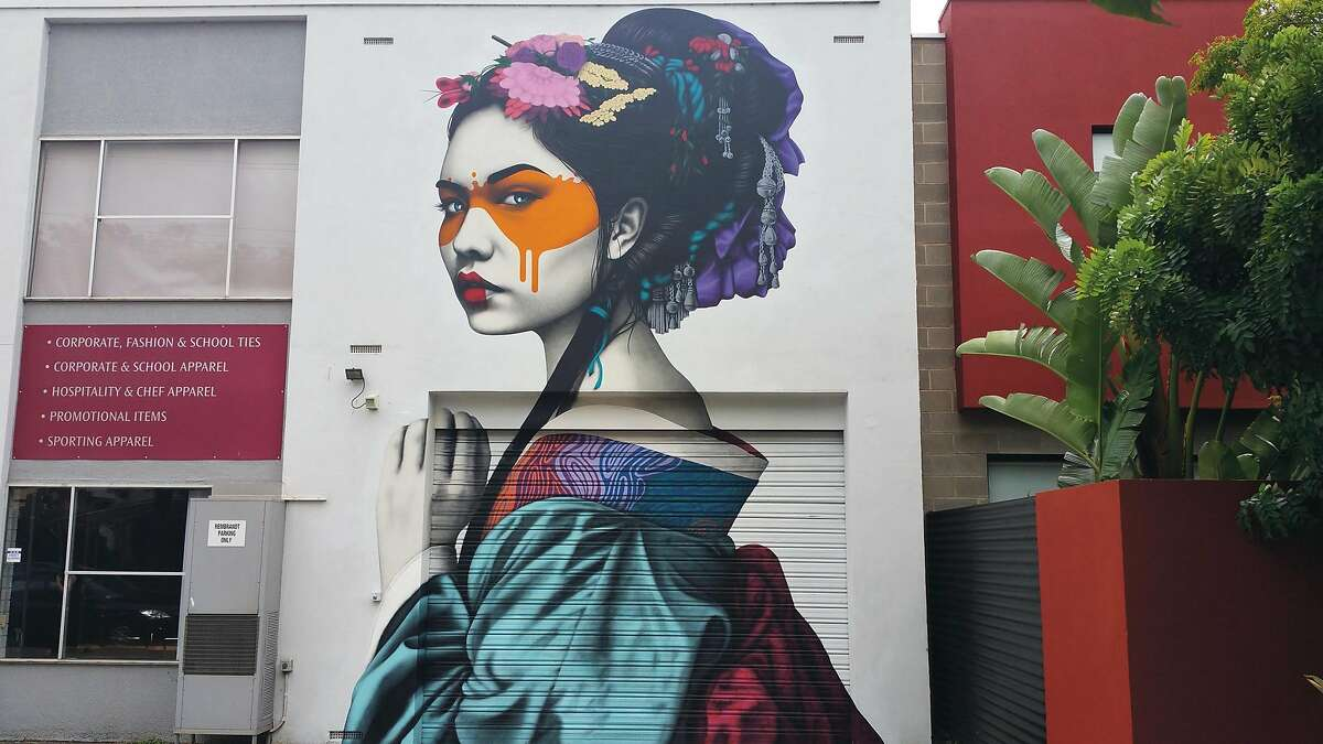 Mural by Fin DAC on Little Rundle Street in Adelaide, Australia.