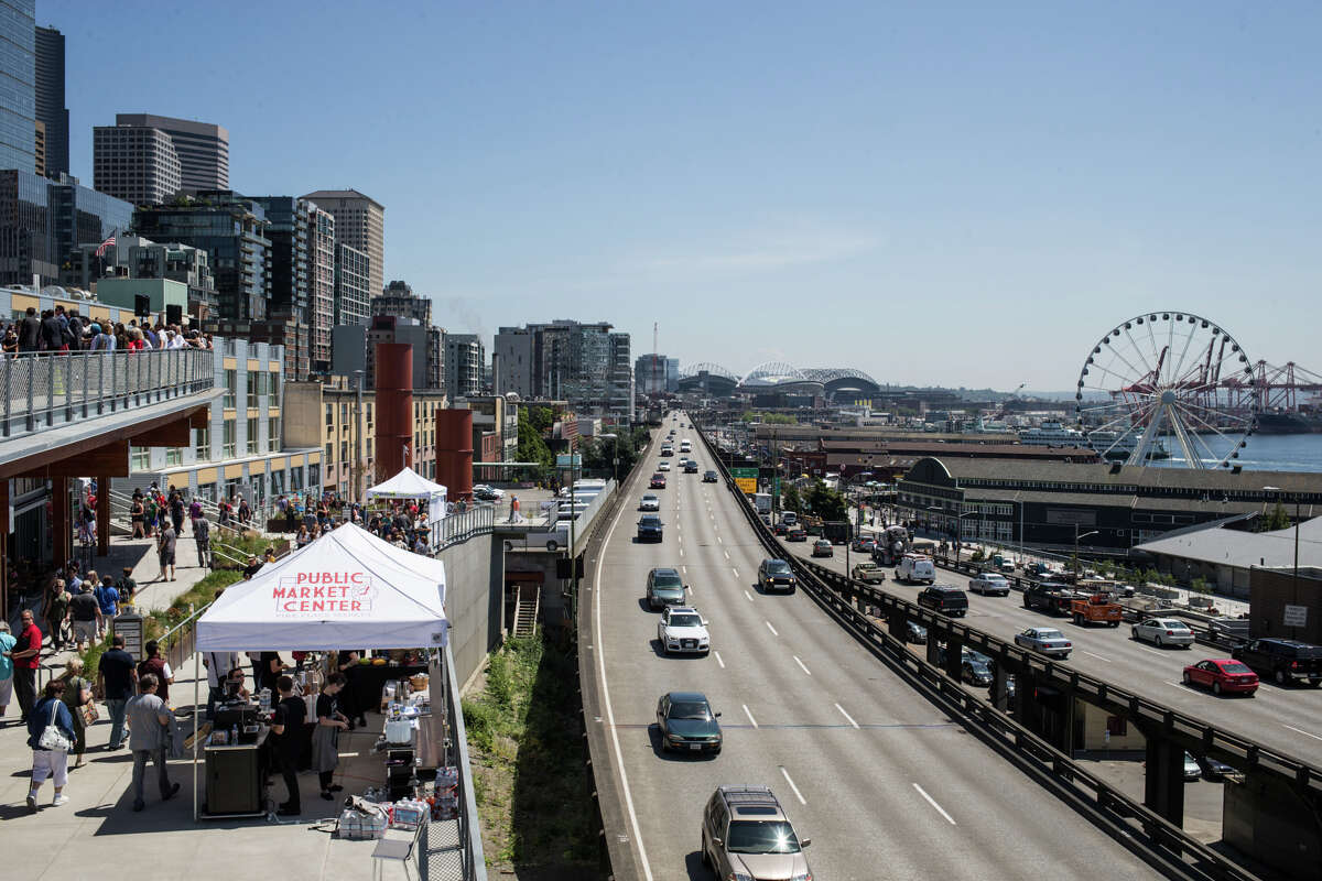 Seattle with a view Aquarium, Ye Olde Curiosity Shop, Pike Place, the Olympic Sculpture Garden, the original Ivar's - there's plenty of ways to spend your time down on Seattle's waterfront. You can even take a turn on Seattle's technicolor ferris wheel.