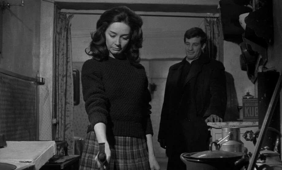 "Emmanuelle Riva and Jean-Paul Belmondo in ""Leon Morin: Priest."" Photo: Criterion Collection, 1961"