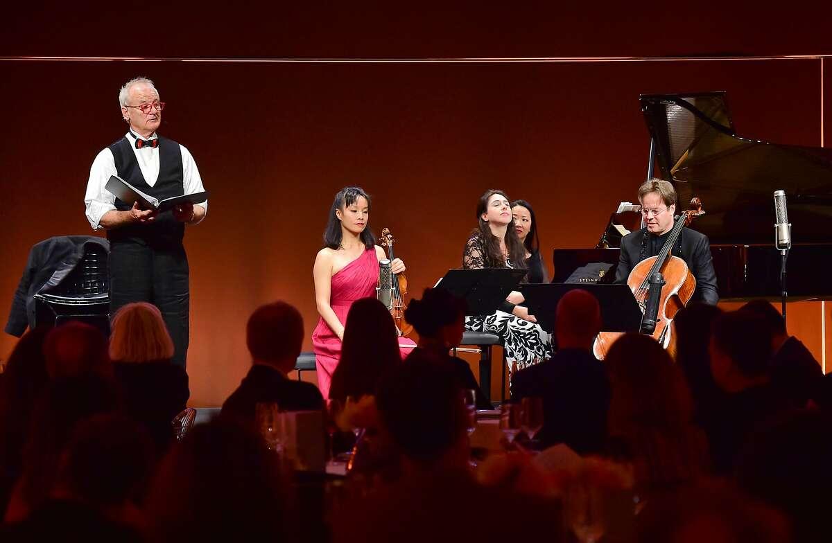 Bill Murray (l.) with cellist Jan Vogler (r.)