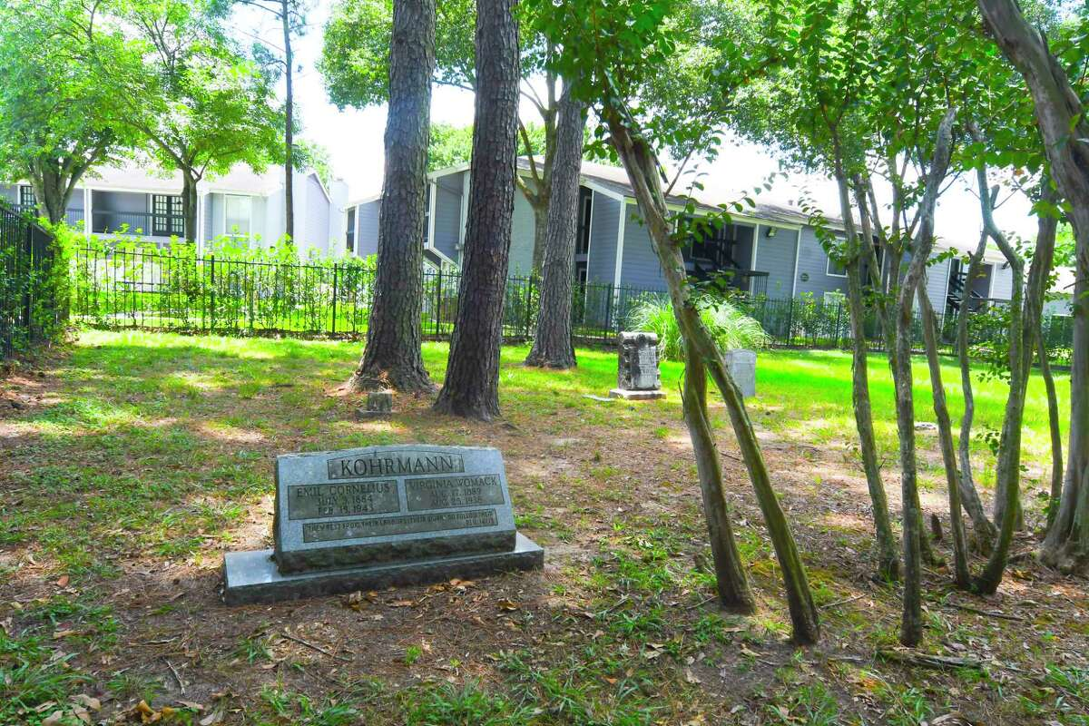 At the heart of Lakewood Apartments south of Tomball is Kohrmann cemetery, a plot in which ten early local residents rest.