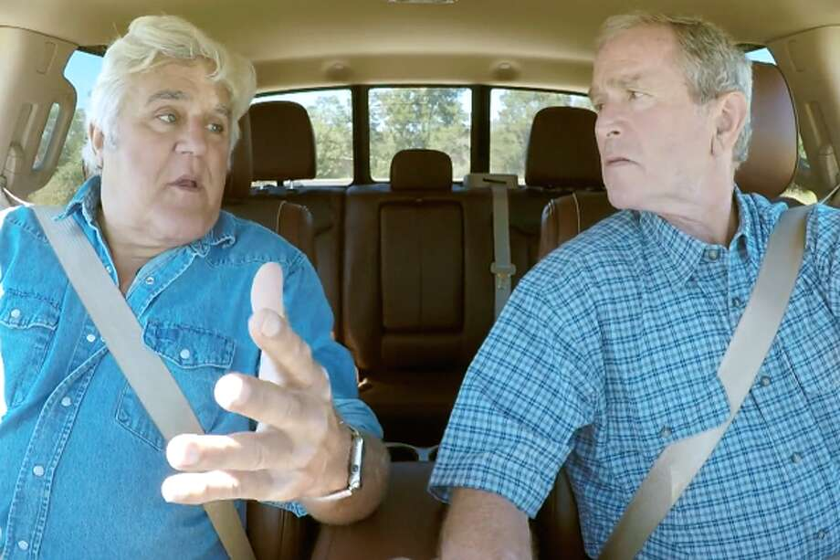 For the season premiere of his hit CNBC car show Jay Leno came to visit former President George W. Bush at his Texas ranch and get some details on life in McLennan County, discovering that current and former presidents are forbidden from driving themselves on public roads. Click through to see what else Bush 43 has been up to since leaving office in 2009... Photo: CNBC