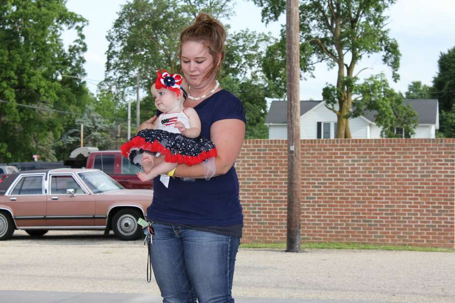 Beauties of all ages participated in the Cass City Freedom Festival Beaty Pageant Thursday night. Kennedy Brown of Cass City was eventually crowned Miss Dynamite 2017, while various crowns were handed out to younger contestants. Photo: Brenda Battel