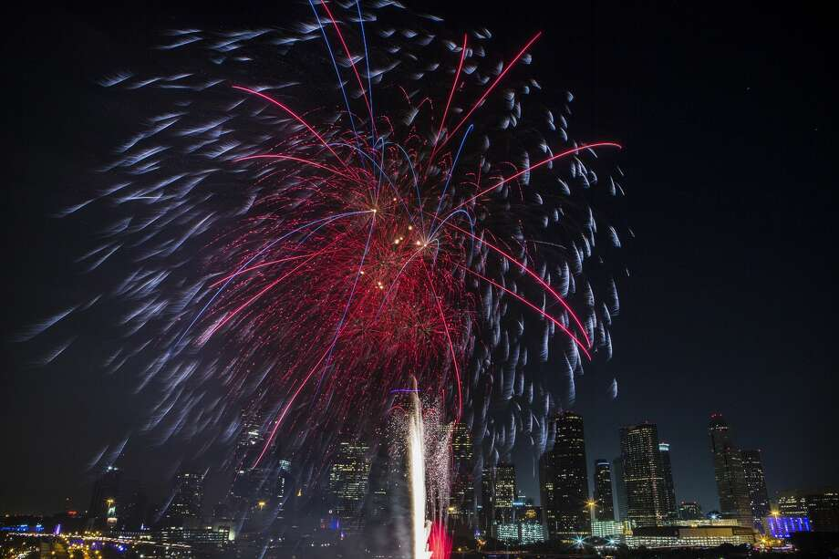 Fireworks ignite the sky in 2016 in Houston during the Freedom Over Texas festival as part of the celebratory events commemorating Independence Day. Photo: Marie D. De Jesus/Houston Chronicle