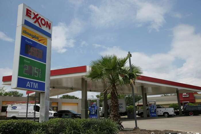 The Exxon Mobil gas station sits on Wayside Drive, just off Interstate 45 South, and its rival directly across the street, Murphy Express, have been battling for customers for months. And that battle has driven their prices down among the lowest in Houston. Photographed on Thursday, June 29, 2017, in Houston. ( Yi-Chin Lee / Houston Chronicle )