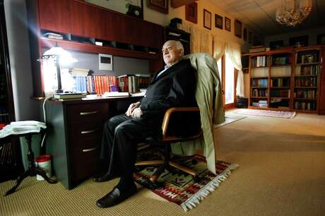 Fethullah Gulen, a Turkish preacher who leads one of the most influential Islamic movements in the world, at his compound in Saylorsburg, Pa., in June 2010.  Gulen has long advocated a moderate, tolerant brand of Islam, but critics say his movement is persecuting opponents and working toward a conservative Islamic Turkey. (Ruth Fremson/The New York Times) Photo: RUTH FREMSON / NYTNS