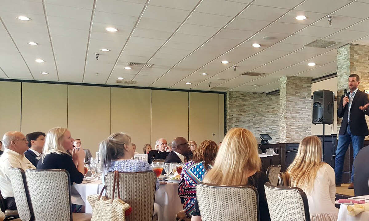 SenatorBrandon Creighton talks about legislation carried in regular session during the State of the State Luncheon at Kingwood Country Club of Tuesday, June 27.