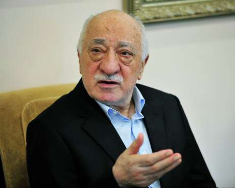 Islamic cleric Fethullah Gulen speaks to members of the media at his compound  July 17, 2016, in Saylorsburg, Pa. the day after a bloody coup in Turkey. Turkey President Recep Tayyip Erdogan blames Fethullah Gulen movement for a failed coup attempt on July 14, 2016. Hundreds of Turkish citizens were killed during the unrest. Gulen denies the charges. (AP Photo/Chris Post) Photo: Chris Post / FR170581 AP