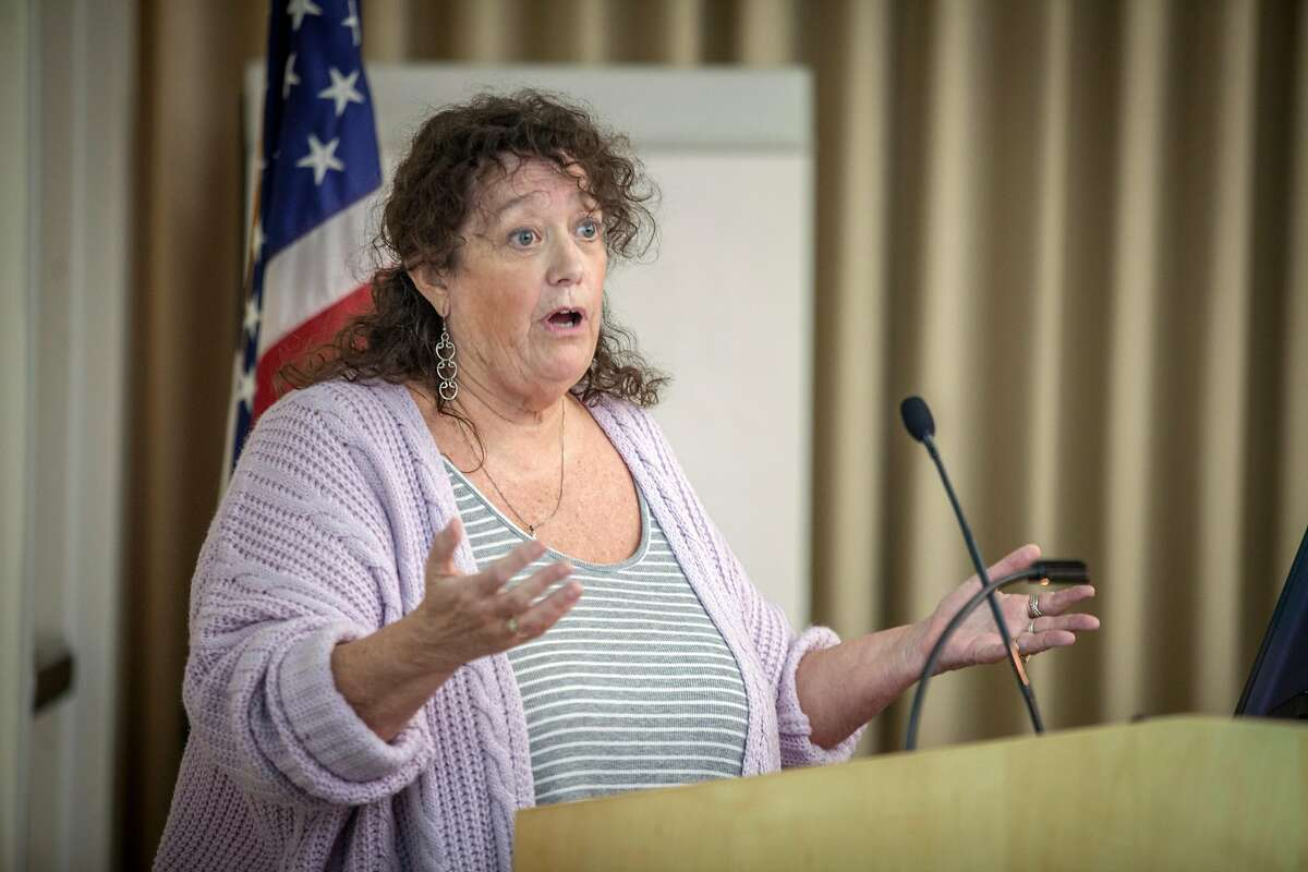 Renee Lee, President of the Ross Moor marijuana club during the public comment and official discussion of locally implementing Prop 64 - marijuana legalization Tuesday 16 May 2017 at Walnut Creek City Hall in Walnut Creek, CA. (Peter DaSilva Special to the Chronicle)