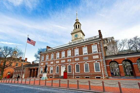 PHILADELPHIA, PENNSYLVANIA, UNITED STATES - 2012/03/24: Independence Hall, Independence National Historical Park. (Photo by John Greim/LightRocket via Getty Images)