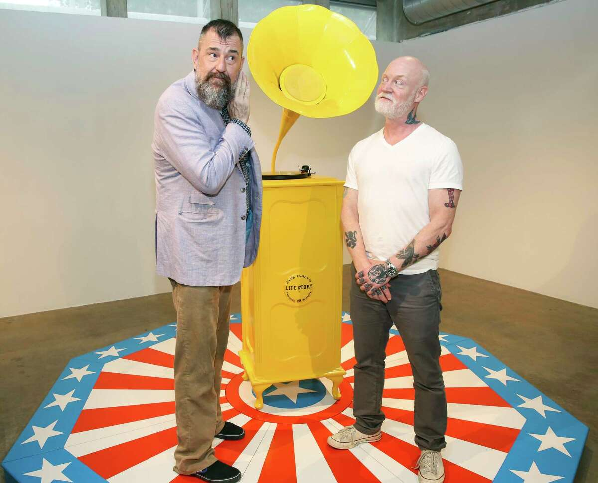 Contemporary Arts Museum Houston director Bill Arning, left, and Jack Early pose with